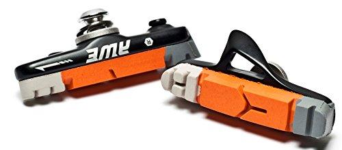 ブレーキ パーツ 自転車 コンポーネント サイクリング Sport Direct AWE Black Cassette Road Brake Blocks Grey/Orange/White 55mmブレーキ パーツ 自転車 コンポーネント サイクリング