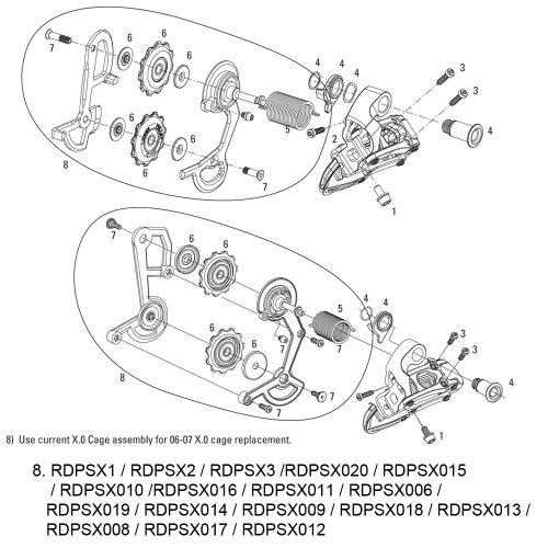 ディレイラーポスト パーツ 自転車 コンポーネント サイクリング RDPSX011 【送料無料】SRAM Cage Kit for Rear Derailleur X0 (Cage and Pulleys) Gold Medium, 11.7515.023.070 by MTBディレイラーポスト パーツ 自転車 コンポーネント サイクリング RDPSX011