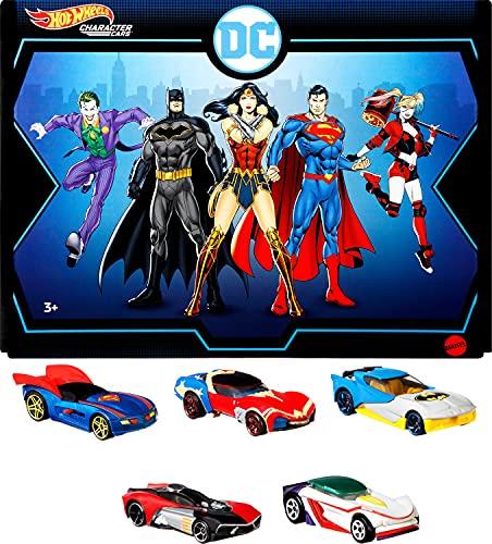 無料ラッピングでプレゼントや贈り物にも 逆輸入並行輸入送料込 ホットウィール マテル ミニカー ホットウイール 激安格安割引情報満載 送料無料 Hot Wheels DC Character Cars 5-Pack of 1:64 Vehicles Quiホットウィール Woman Wonder Superman Batman to 新着セール The GT Scale Harley and Collectible Themed Joker