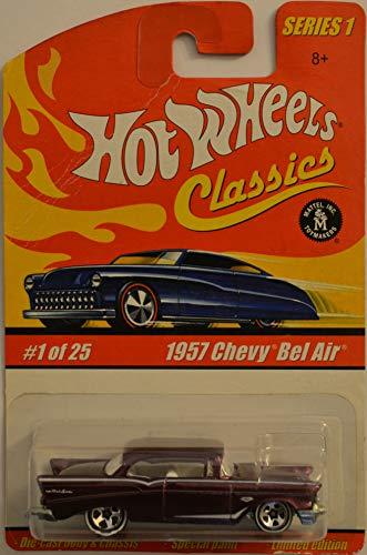 即納最大半額 無料ラッピングでプレゼントや贈り物にも 逆輸入並行輸入送料込 ホットウィール マテル ミニカー ホットウイール 送料無料 Hot Wheels 1957 Chevy Bel Air Dark Purple 25 Classics 1:64 Collectible HW [ギフト/プレゼント/ご褒美] Paint Die Scale of Special Model 1 Carホットウィール Cast Series