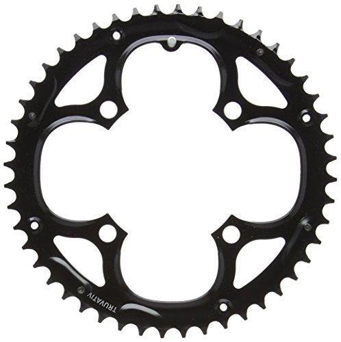 チェーンリング ギア パーツ 自転車 コンポーネント CRT48MBS 【送料無料】Truvativ 48T 9 sp BCD 104mm- 4-Bolt- Outer Chainring- For 28/38/48- Steel- Black- 11.6215.018.000チェーンリング ギア パーツ 自転車 コンポーネント CRT48MBS
