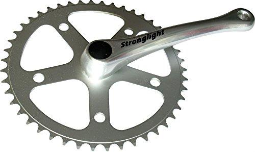チェーンリング ギア パーツ 自転車 コンポーネント Stronglight 55 Series Single Chain Set - Silver, 46 Tチェーンリング ギア パーツ 自転車 コンポーネント