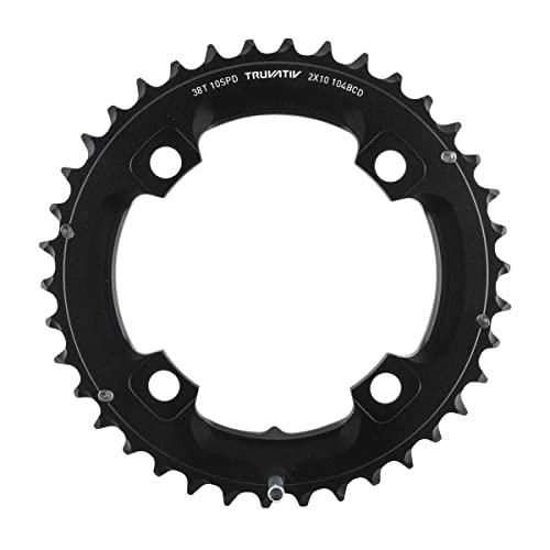 チェーンリング ギア パーツ 自転車 コンポーネント CRT38XBL SRAM 38T 10 sp BCD 104mm 4-Bolt Outer Chainring For L-pin GXP Aluminum Black 11.6215.188.440チェーンリング ギア パーツ 自転車 コンポーネント CRT38XBL