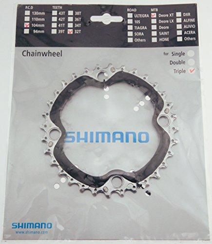 チェーンリング ギア パーツ 自転車 コンポーネント 145581 SHIMANO FC-M770 XT 9sp chainring, 104BCD x 44t - blk/silチェーンリング ギア パーツ 自転車 コンポーネント 145581
