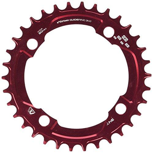 チェーンリング ギア パーツ 自転車 コンポーネント CR.M-104.34.R ethirteen Components Guidering 4 Bolt Chainring Red, 34t, Standard chainlineチェーンリング ギア パーツ 自転車 コンポーネント CR.M-104.34.R