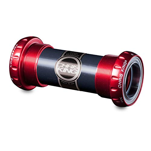 ボトムブラケット ギア パーツ 自転車 コンポーネント FR0810 Chris King ThreadFit 24mm Bottom Bracket Red, STEELボトムブラケット ギア パーツ 自転車 コンポーネント FR0810