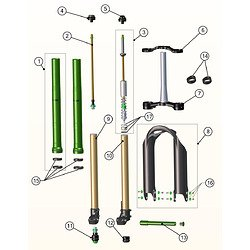 フォーク パーツ 自転車 コンポーネント サイクリング Emerald Fork Replacement Parts (, Emerald Seal Kit 36mm)フォーク パーツ 自転車 コンポーネント サイクリング