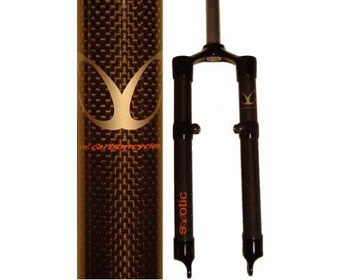 フォーク パーツ 自転車 コンポーネント サイクリング eXotic Rigid lightweight Carbon Fiber Fork 1 Inch Steerer 42.5cm Disc + V mountsフォーク パーツ 自転車 コンポーネント サイクリング