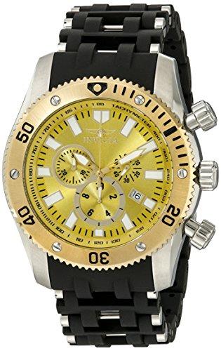 インヴィクタ インビクタ シースパイダー 腕時計 メンズ 10253 【送料無料】Invicta Men's 10253 Sea Spider Chronograph Yellow Dial Watchインヴィクタ インビクタ シースパイダー 腕時計 メンズ 10253