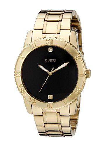 ゲス GUESS 腕時計 メンズ U0416G2 GUESS Men's U0416G2 Stainless Steel Gold-Tone Watch with Black Diamond Dialゲス GUESS 腕時計 メンズ U0416G2