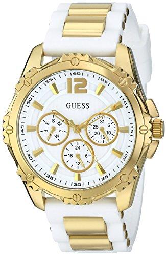 ゲス GUESS 腕時計 レディース U0325L2 【送料無料】GUESS Women's U0325L2 Watch With White Silicone Bandゲス GUESS 腕時計 レディース U0325L2