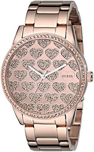 ゲス GUESS 腕時計 レディース U0536L1 【送料無料】GUESS Women's U0536L1 Rose Gold-Tone Watch with Glitzy Heart Dialゲス GUESS 腕時計 レディース U0536L1
