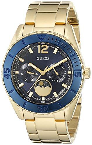 ゲス GUESS 腕時計 レディース U0565L4 GUESS Women's U0565L4 Gold-Tone Multi-Function Watch with Iconic Blue Moonphase Dialゲス GUESS 腕時計 レディース U0565L4