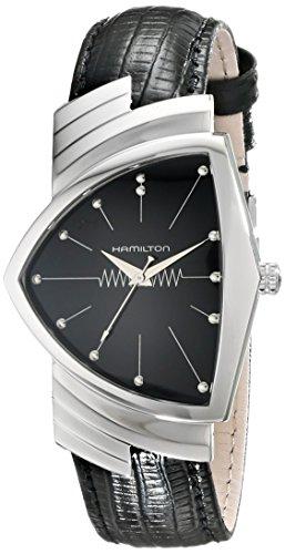 ハミルトン 腕時計 メンズ H24411732 【送料無料】Hamilton Mens H24411732 Ventura Stainless Steel Watch with Black Leather Bandハミルトン 腕時計 メンズ H24411732