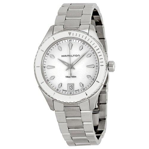 ハミルトン 腕時計 レディース Hamilton Seaview White Dial Stainless Steel Ladies Watch H37411111ハミルトン 腕時計 レディース