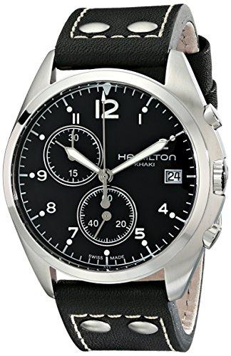 ハミルトン 腕時計 メンズ H76512733 【送料無料】Hamilton Men's H76512733 Khaki Aviation Analog Display Swiss Quartz Black Watchハミルトン 腕時計 メンズ H76512733