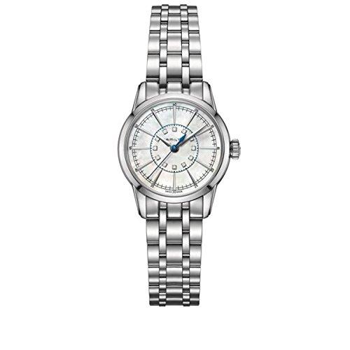 ハミルトン 腕時計 レディース H40311191 H40311191 Hamilton Railroad Stainless Steel Braclet pearl Dial Lady Watchハミルトン 腕時計 レディース H40311191