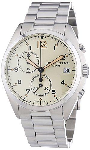 ハミルトン 腕時計 メンズ H76512155 【送料無料】Hamilton Men's H76512155 Khaki Aviation Analog Display Swiss Quartz Silver Watchハミルトン 腕時計 メンズ H76512155