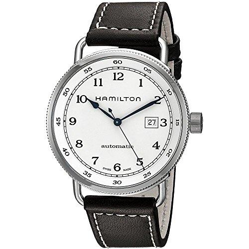 腕時計 ハミルトン メンズ H77715553 【送料無料】Hamilton Khaki Navy Pioneer Silver Dial SS Leather Automatic Men Watch H77715553腕時計 ハミルトン メンズ H77715553