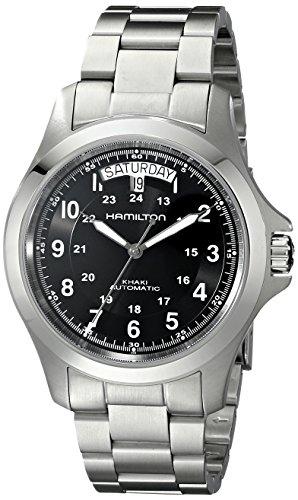 ハミルトン 腕時計 メンズ H64455133 Hamilton Men's H64455133 Khaki King II Black Dial Watchハミルトン 腕時計 メンズ H64455133