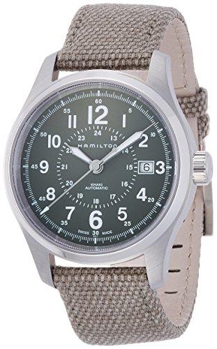 ハミルトン 腕時計 メンズ H70595963 Hamilton H70595963 Khaki Field Automatic Mens Watch - Green Dialハミルトン 腕時計 メンズ H70595963