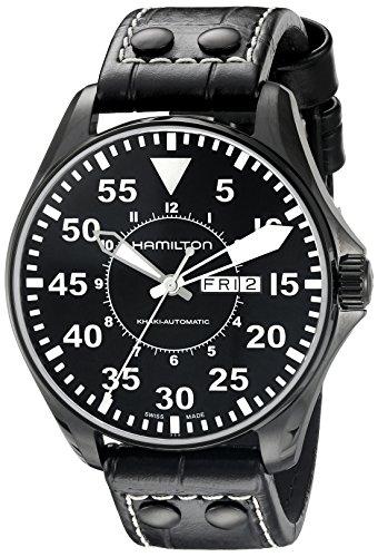 腕時計 ハミルトン メンズ H64785835 【送料無料】Hamilton Men's H64785835 Khaki King Pilot Black Dial Watch腕時計 ハミルトン メンズ H64785835