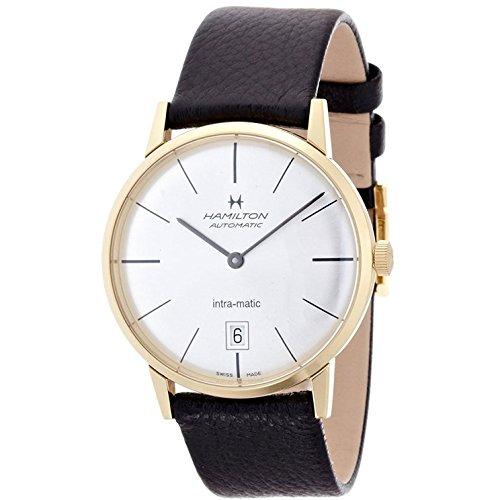 ハミルトン 腕時計 メンズ H38475751 【送料無料】Hamilton Intra-Matic Silver Dial SS Black Leather Auto Men's Watch H38475751ハミルトン 腕時計 メンズ H38475751