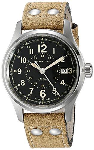 腕時計 ハミルトン メンズ H70595593 【送料無料】Hamilton Men's H70595593 Khaki Field Analog Display Swiss Automatic Brown Watch腕時計 ハミルトン メンズ H70595593
