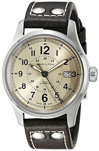 ハミルトン 腕時計 メンズ H70595523 【送料無料】Hamilton Men's H70595523 Khaki Field Analog Swiss Automatic Brown Leather Watchハミルトン 腕時計 メンズ H70595523