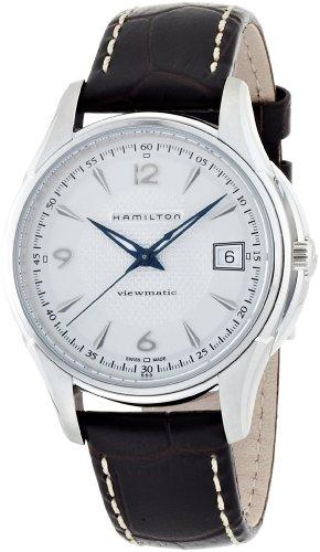 腕時計 ハミルトン メンズ H32455557 【送料無料】Hamilton Men's H32455557 JazzMaster Viewmatic Silver Dial Brown Strap Watch腕時計 ハミルトン メンズ H32455557