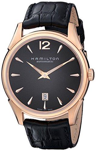 """ハミルトン 腕時計 メンズ H38645735 【送料無料】Hamilton Men""""s H38645735 Jazzmaster Slim Black Dial Watchハミルトン 腕時計 メンズ H38645735"""