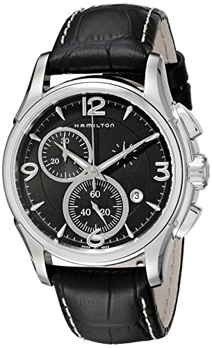 ハミルトン 腕時計 メンズ H32612735 【送料無料】Hamilton Men's H32612735 Jazzmaster Stainless Steel Watch with Black Leather Bandハミルトン 腕時計 メンズ H32612735