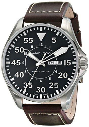 ハミルトン 腕時計 メンズ H64715535 Hamilton Men's H64715535 Khaki Pilot Black Dial Watchハミルトン 腕時計 メンズ H64715535