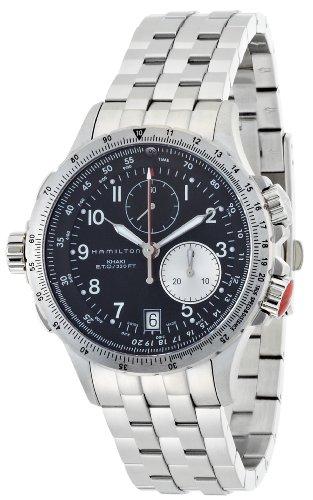 腕時計 ハミルトン メンズ H77612133 【送料無料】Hamilton Men's H77612133 Khaki ETO Black Chronograph Dial Watch腕時計 ハミルトン メンズ H77612133