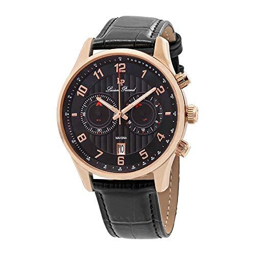 腕時計 ルシアンピカール メンズ LP-11187-RG-01 【送料無料】Lucien Piccard Navona GMT Chronograph Men's Watch 11187-RG-01腕時計 ルシアンピカール メンズ LP-11187-RG-01