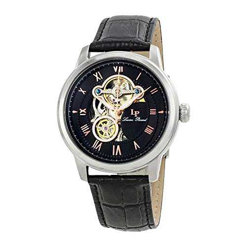 ルシアンピカール 腕時計 メンズ LP-12524-01-RA Lucien Piccard Men's LP-12524-01-RA Optima Stainless Steel Automatic Watch with Black Leather Bandルシアンピカール 腕時計 メンズ LP-12524-01-RA
