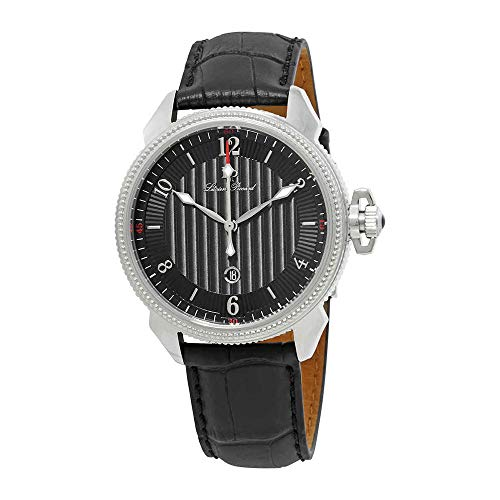 ルシアンピカール 腕時計 メンズ LP-40053-01 Lucien Piccard Men's LP-40053-01 Trevi Stainless Steel Watch with Leather Bandルシアンピカール 腕時計 メンズ LP-40053-01