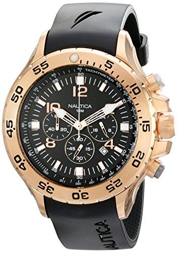 ノーティカ 腕時計 メンズ N18523G Nautica Men's N18523G NST Black/Rose Gold-Tone Stainless Steel Dress Watch, Blackノーティカ 腕時計 メンズ N18523G