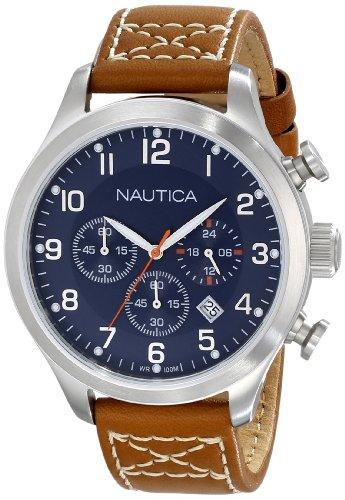 ノーティカ 腕時計 メンズ N14699G 【送料無料】Nautica Men's N14699G BFD 101 Chrono Classic Stainless Steel Watch with Brown Bandノーティカ 腕時計 メンズ N14699G