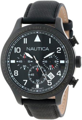 ノーティカ 腕時計 メンズ N18685G 【送料無料】Nautica N18685G BFD 105 Stainless Steel Watch with Black Cloth Bandノーティカ 腕時計 メンズ N18685G