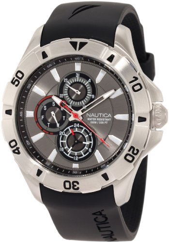 ノーティカ 腕時計 メンズ N14609G Nautica Men's N14609G NST 06 Multifunction Black Resin Strap Watchノーティカ 腕時計 メンズ N14609G