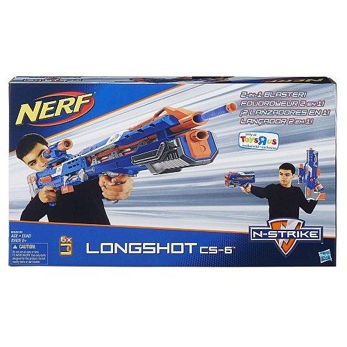 Nerf ナーフ エヌストライク エリート ロングショット CS-6 青バージョン 大型ブラスター 分割しても使える!米国ハズブロ版