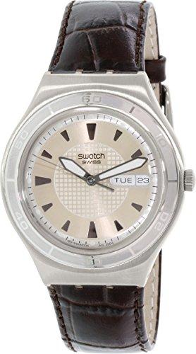 スウォッチ 腕時計 メンズ YGS738 Swatch Quaterman Irony Brown Leather Mens Watch YGS738スウォッチ 腕時計 メンズ YGS738
