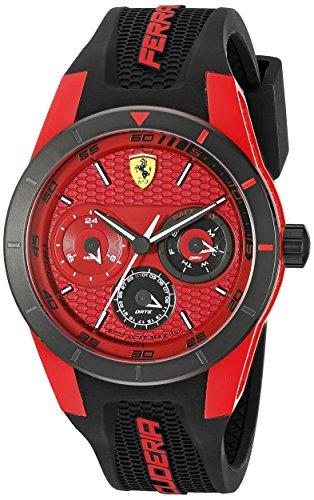 フェラーリ 腕時計 メンズ 0830255 【送料無料】Ferrari Men's 0830255 赤REV T Analog Display Japanese Quartz 黒 Watchフェラーリ 腕時計 メンズ 0830255