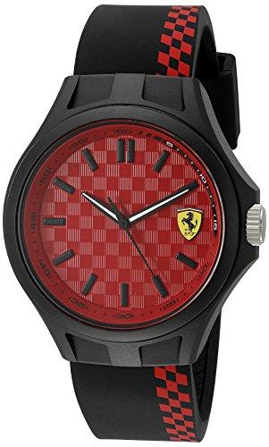 腕時計 フェラーリ メンズ 0830325 【送料無料】Ferrari Men's Quartz Multi Color Casual Watch (Model: 0830325), Black/Red腕時計 フェラーリ メンズ 0830325