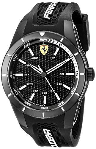 フェラーリ 腕時計 メンズ 0830249 【送料無料】Ferrari Men's 0830249 REDREV Analog Display Japanese Quartz Black Watchフェラーリ 腕時計 メンズ 0830249