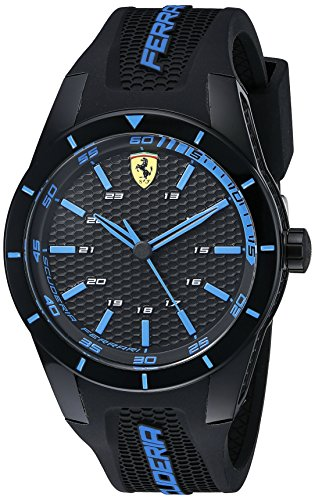 フェラーリ 腕時計 メンズ 0830247 【送料無料】Ferrari Men's 0830247 REDREV Analog Display Japanese Quartz Black Watchフェラーリ 腕時計 メンズ 0830247