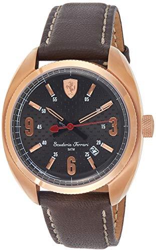 フェラーリ 腕時計 メンズ 0830208 【送料無料】Ferrari Men's Scuderia Rose-Gold Tone Brown Leather Watch 0830208フェラーリ 腕時計 メンズ 0830208