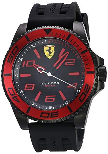 【当店1年保証】フェラーリ メンズ腕時計 XX Kers 0830306 ブラック&レッド クオーツ ケース直径50mm