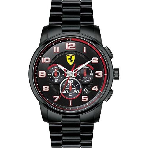 フェラーリ 腕時計 メンズ - Scuderia Ferrari Black-Tone Dial SS Chrono Quartz Men's Watch 0830054フェラーリ 腕時計 メンズ -